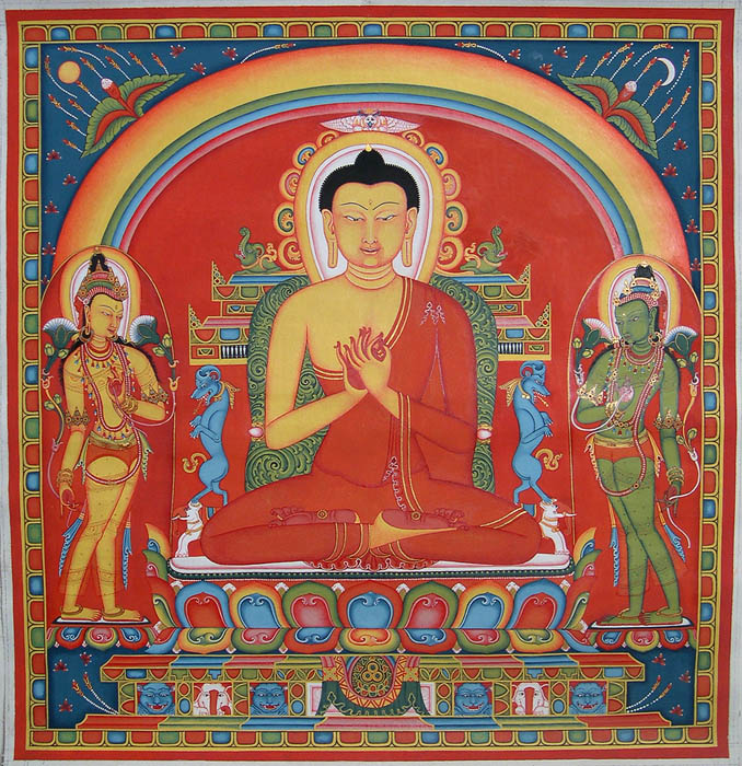 Buddha with Two Attendants