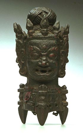 Phurbu-head ritual container